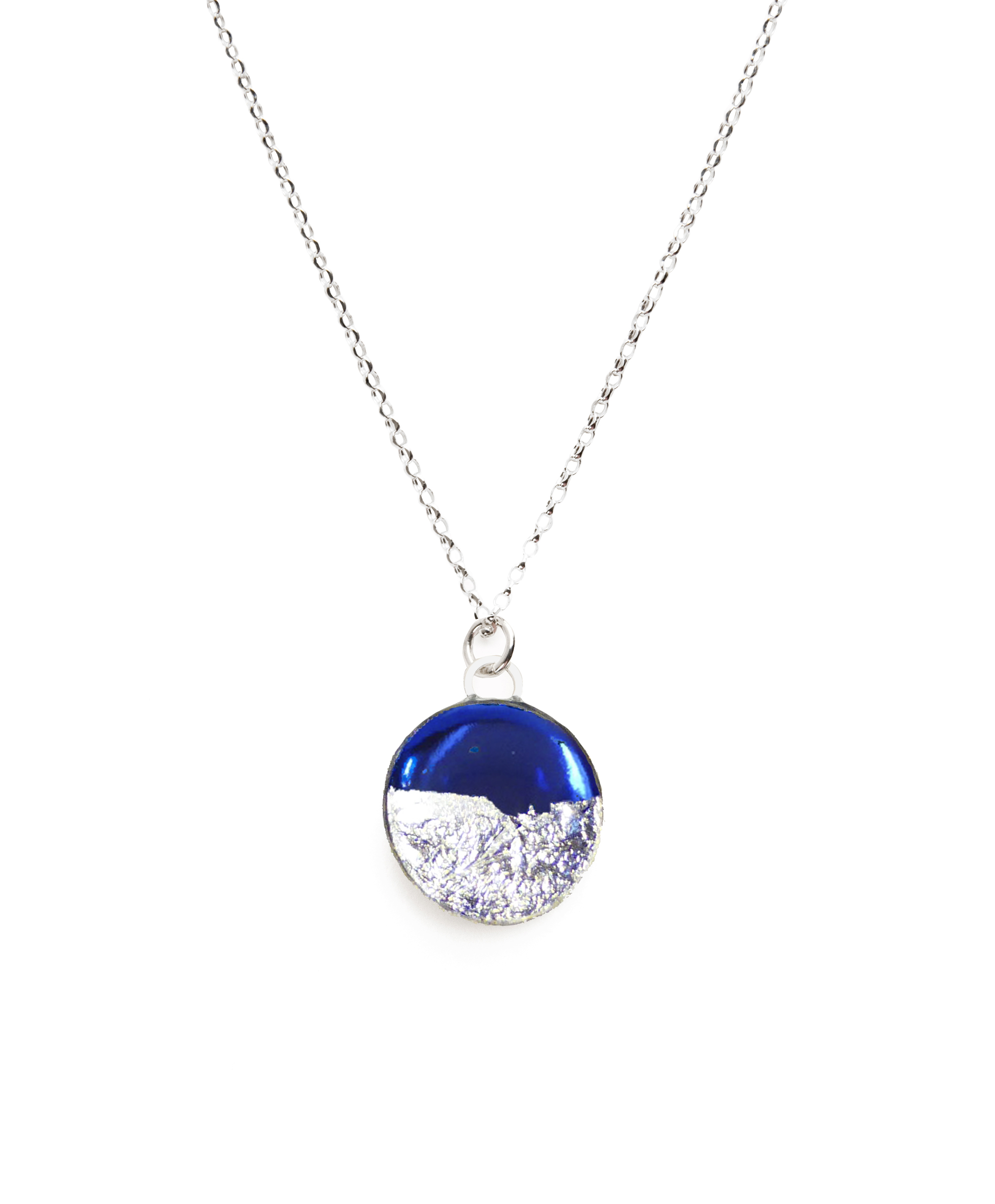 blue claire mood necklace pendant s dolphin